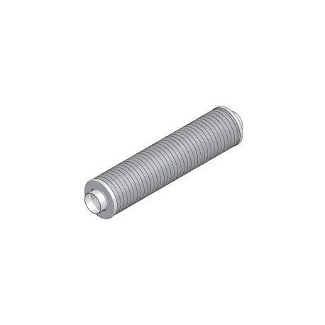 Silencieux circulaire DN125x0,5m sans laine minérale