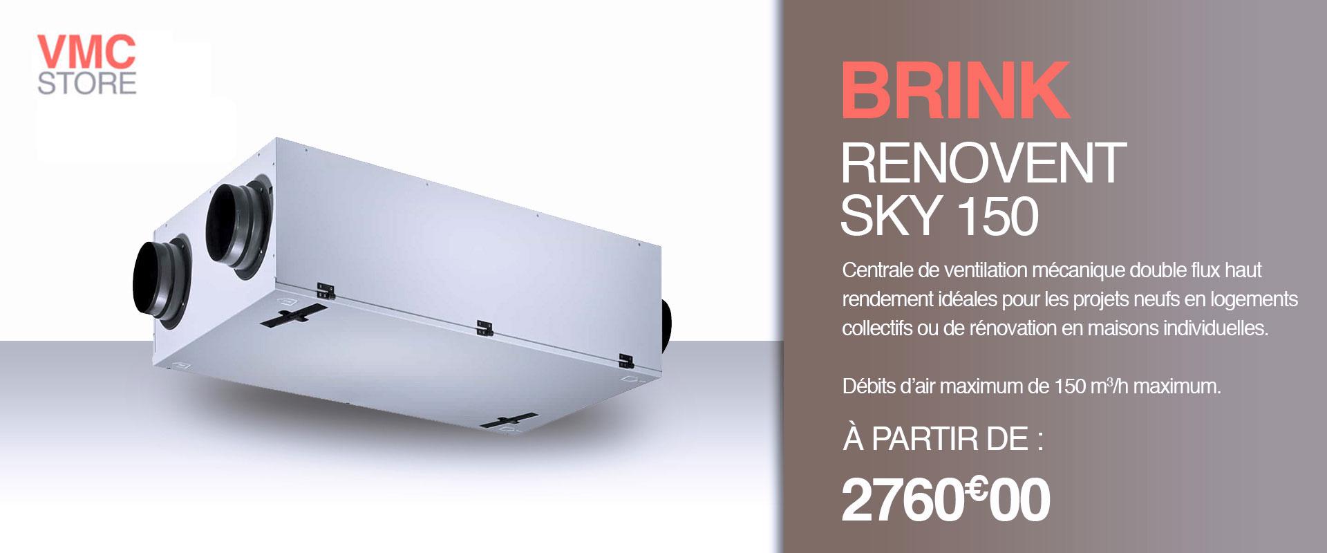 Kit VMC double flux renovent sky 150